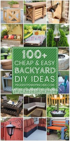 100 Easy and Cheap DIY Backyard Ideas – Patio Furniture …