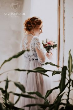 Chantilly wedding gown, luxury transparent lace dress, wedding gown for bride, lace lingerie and bridal tulle, tulle wedding dress sleepwear