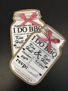 Custom order for 100 I DO BBQ Invites