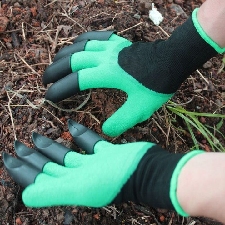 DMWOVB New garden gloves 8 abs plastic claws for digging gardens planting general protective outdoor work gloves Hot sale