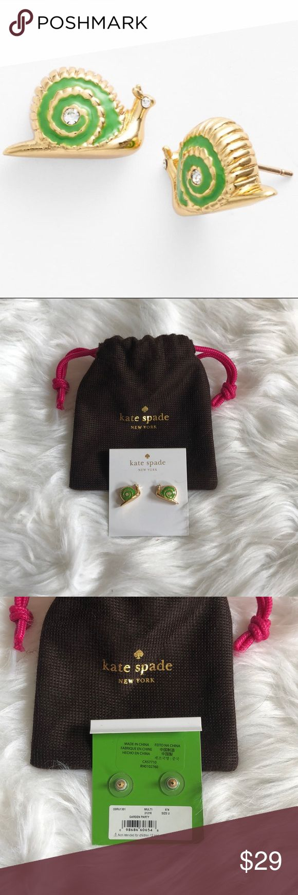 "Never Worn – Kate Spade ""Garden Party"" Earring …"
