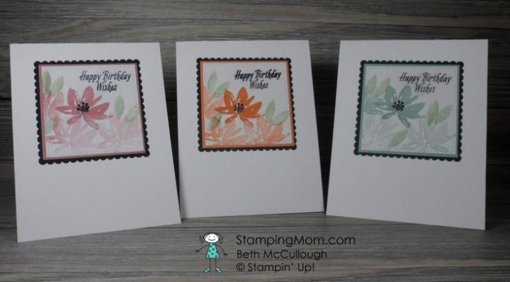 The Stampin Up Avant Garden 2017 SAB set makes a …