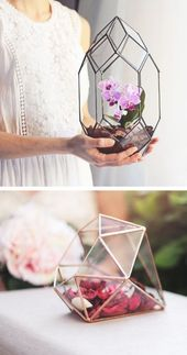 50 geometric wedding ideas and glam terrarium