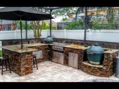 The different designs of outdoor kitchens