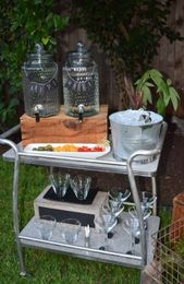 56 ideas for backyard party themes Drink stations