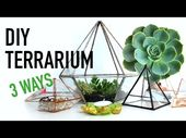 △ DIY geometric glass terrariums: 3 ways! DIY DUPES # 4
