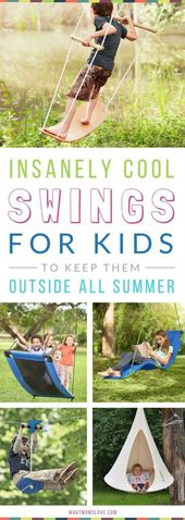 8 outrageously great swings and hiding places that will keep your children out. Everybody. Summer. Long.