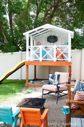 How to build an outdoor playhouse for children
