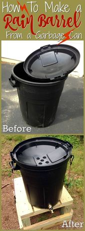 How to make a DIY barrel with a trash can