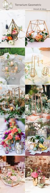 Modern wedding trend 2019: details and geometric ideas of the terrarium #details #geom … #details #g …